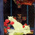 A House And Garden Cover Of White Cats by Bradley Walker Tomlin