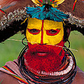 A Huli Man by Art Wolfe