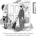 A Husband With Packed Bags Tells His Wife by Liam Walsh
