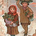 A Joyful Christmas to you   Victorian Christmas card  by English School