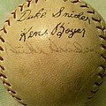 A Ken Boyer And Duke Snider Autograph Baseball by Lois Ivancin Tavaf
