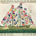 A King S Ship Dressed With The Colours Of Different Nations 6th October 1794 by English School
