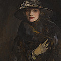 A Lady In Brown by Sir John Lavery