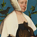 A Lady With A Squirrel And A Starling by Hans Holbein the Younger