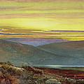 A Lake Landscape At Sunset by John Atkinson Grimshaw