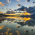 A Lake Pend Oreille Sunset  -  120601a-040 by Albert Seger