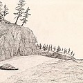 A Lakeshore... Sketch by Robert Meszaros