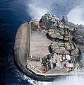 A Landing Craft Air Cushion Enters Teh by Stocktrek Images