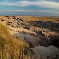 A Landscape Image Of Badlands National by Michael Hanson