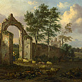A Landscape With A Ruined Archway by Jan Wijnants
