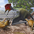 A Large Bakonydraco Pterosaur Attacking by Sergey Krasovskiy