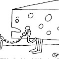 A Large Piece Of Swiss Cheese Talks by Charles Barsotti