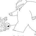 A Large, Wealthy Businessman Gives Some Change by Charles Barsotti