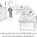A Lawyer Makes His Case In Front Of A Jury by Paul Noth