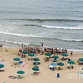 A Lifeguard Gives A Safety Briefing To Beachgoers In Ocean City Maryland by William Kuta
