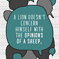 A Lion Doesnt Concern Himself With The by Orange Vectors