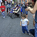 A Little Boy Dancing At The 200th Anniversary Of St. Patrick Old Cathedral by James Connor