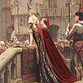 A Little Prince Likely In Time To Bless A Royal Throne by Edmund Blair Leighton