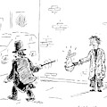 A Magician Points His Wand At A Beggar's Hat by David Sipress