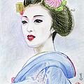 A Maiko  Girl by Yoshiko Mishina
