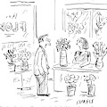 A Man Addressing A Florist by David Sipress