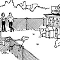 A Man And Dog Enter A Dog Run by Drew Dernavich
