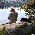 A Man And His Dog by Laurel Talabere