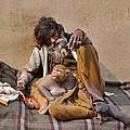 A Man And His Monkey - Varanasi India by Kim Bemis