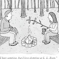 A Man And Woman Are Camping And The Woman Roasts by Amy Hwang
