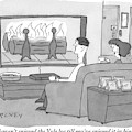 A Man And Woman Sit On A Couch Facing An by Peter C. Vey
