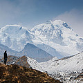A Man Contemplates The Size Of Kanchenjunga by Helix Games Photography