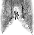 A Man Cornered In An Alleyway Speaks On His Cell by Frank Cotham