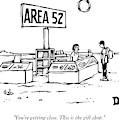 A Man Encounters A Gift Shop Called Area 52 by Drew Dernavich