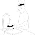 A Man Filling Up His Coffee Pot by Seth Fleishman