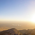 A Man Flying Kite On Summit Of Little by Kennan Harvey
