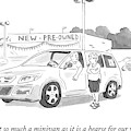 A Man In A Minivan Speaks To A Woman At A Car by Emily Flake