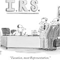 A Man Introduces A Lawyer To An Irs Agent by Christopher Weyant