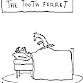 A Man Lies In Bed With A Ferret On Top by Peter Mueller