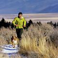 A Man Trail Runs On A Winter Day by Bob Allen