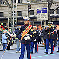A Marine Band Marching In The 2009 New York St. Patrick Day Parade by James Connor