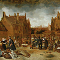 A Marketplace In Winter, 1653 by Sybrandt van Beest