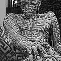 A Maze Ing Man 1 Black And White by Rob Hans