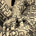 A Maze Ing Man 4 Sepia by Rob Hans