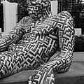 A Maze Ing Man 5 Black And White by Rob Hans