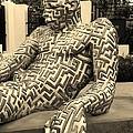 A Maze Ing Man 5 Sepia by Rob Hans