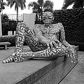 A Maze Ing Man Black And White by Rob Hans