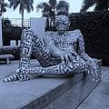 A Maze Ing Man Cyan by Rob Hans