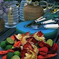 A Meal With Lobster And Limes by Romulo Yanes