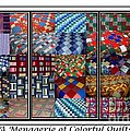 A Menagerie Of Colorful Quilts Triptych by Barbara Griffin