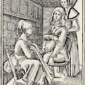 A Midwife Discreetly Helps To  Deliver by Mary Evans Picture Library